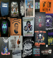 seven 13 productions custom silkscreening customers
